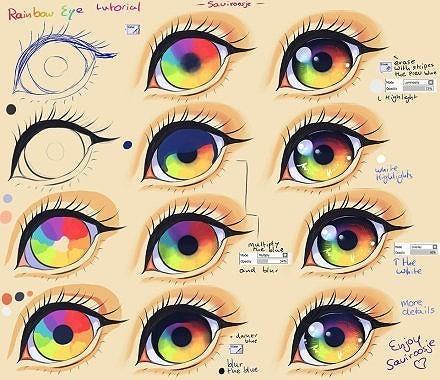 漫画眼睛用彩铅怎样画才好看?