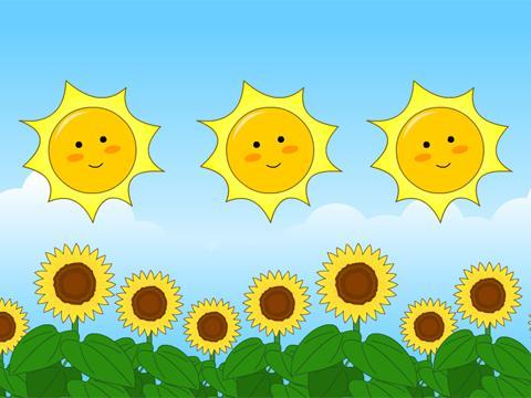 太阳 照儿歌曲谱