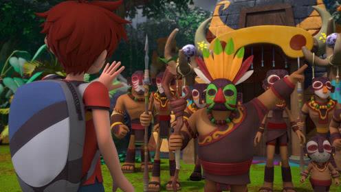 第53集看点4 部落酋长套路马诺拔太阳神剑,马诺表现太赞!
