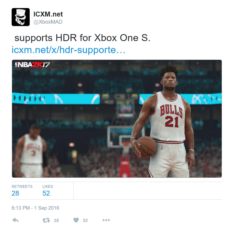 NBA2K17全面支持HDR功能