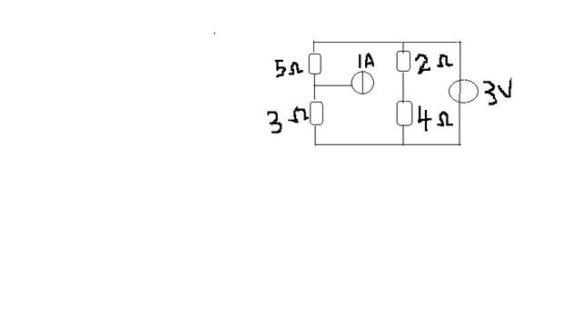 用叠加定理求如图所示电路中的电流i