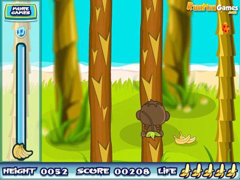 小猴子爬树简笔画