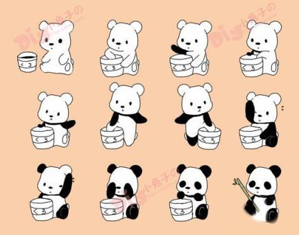 简单熊猫的画法及步骤