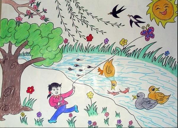 儿童绘画比赛哦,前三名可以享受一家三口的云南之旅