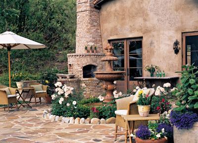 建筑风格是一种田园式园林风格
