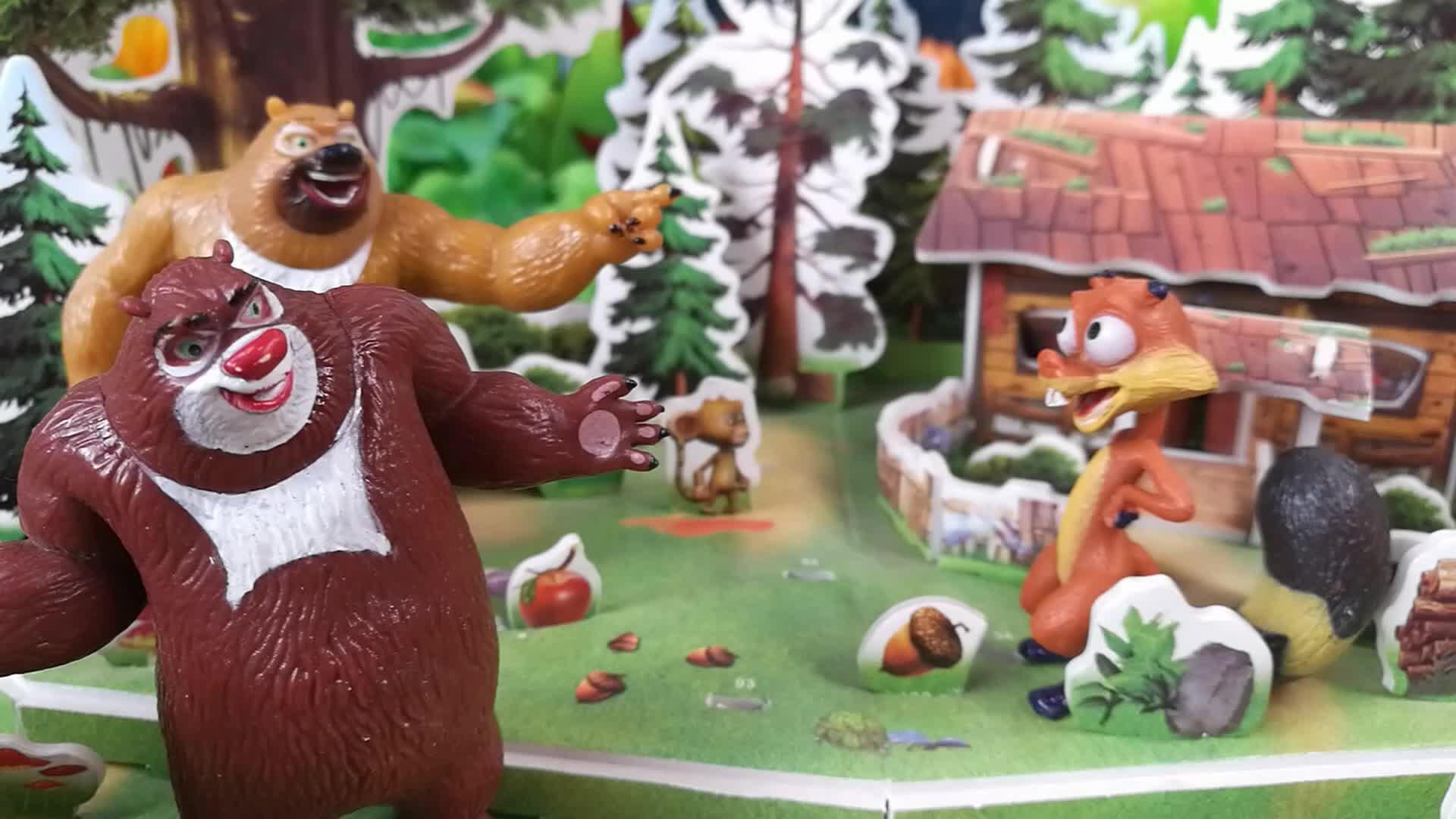 熊出没之光头强过年,发放新年大礼包亲子小故事