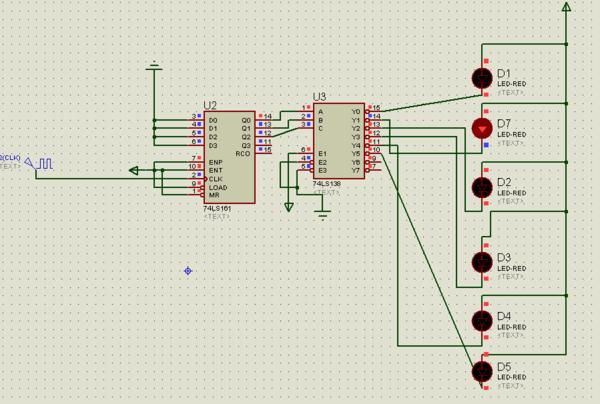 数字电路芯片ne555,74ls161,74ls138,led灯