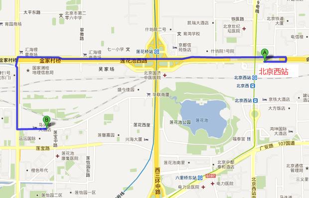 北京西到海淀区吴家厂路51号金爵酒店怎么走
