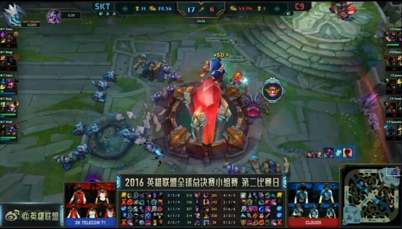 LOL S6总决赛第二日 SKT首秀轻松击败C9
