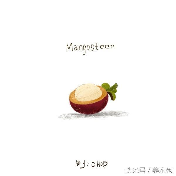 彩铅步骤图-请你吃一个大芒果