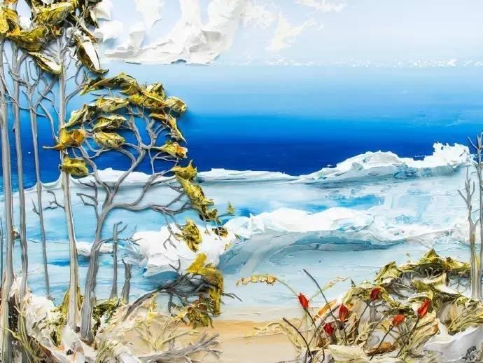 画家justin gaffrey立体风景油画