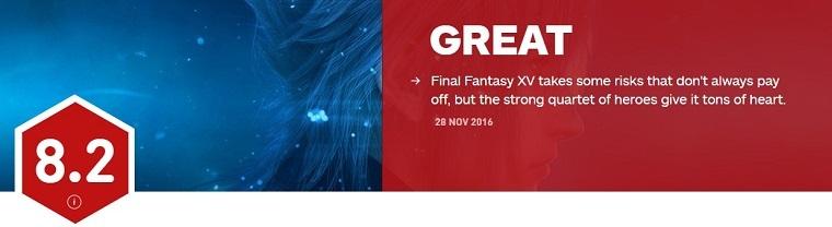 《最终幻想15》IGN评分