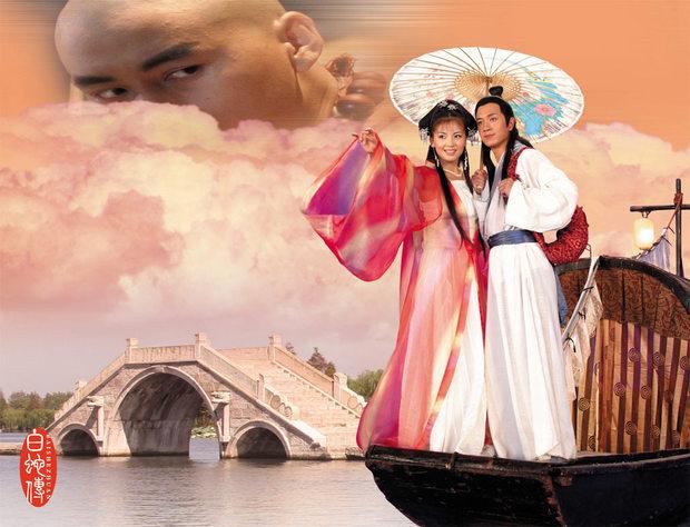 白蛇传《白蛇传》是中国四大民间传说之一,又名《许仙与白娘子》,《新