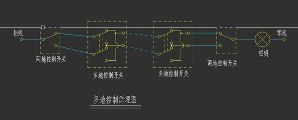 双联多控两开如何接线