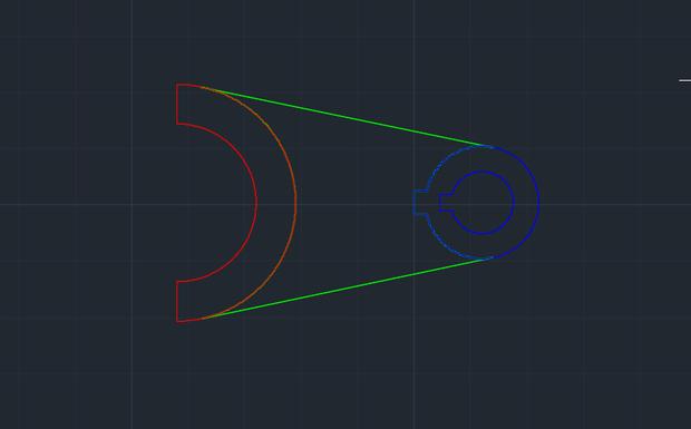 CAD里3D建模画圆柱厚度两个矢量为5的cad室内地图之间图片