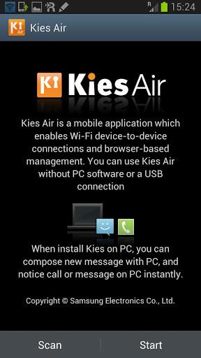 无线同步 Kies air截图1