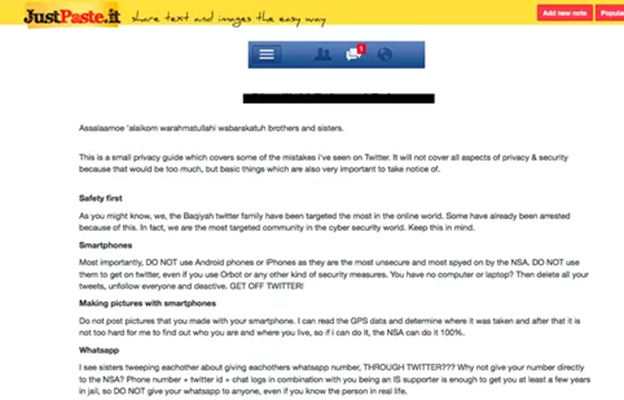 恐怖分子利用线上服务来宣传恐怖主义
