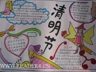 老师让 办 一张清明节的的 手抄报 ,怎么 画 我画画