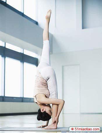 流瑜伽步骤图片