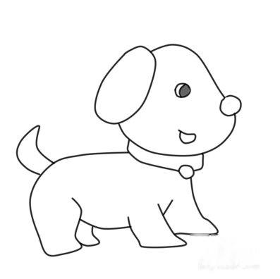 小狗简笔画怎么画 侧身画