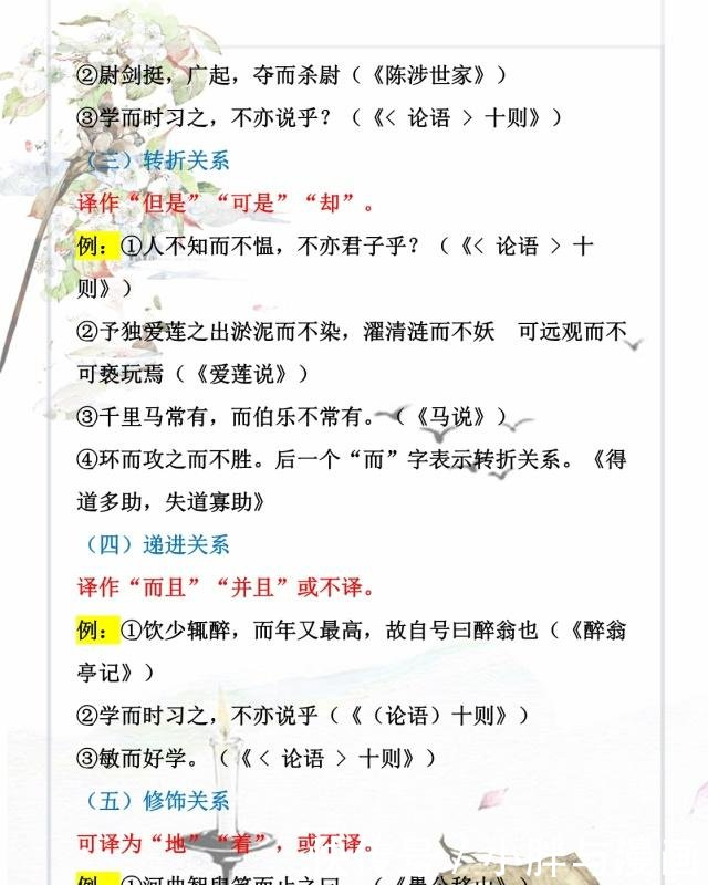 虚词化学7~9年级文言文常考初中用法归纳(附顺站初中免费语文图片