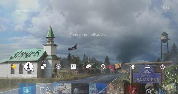 孤岛惊魂5动态主题 阴云密布的希望镇