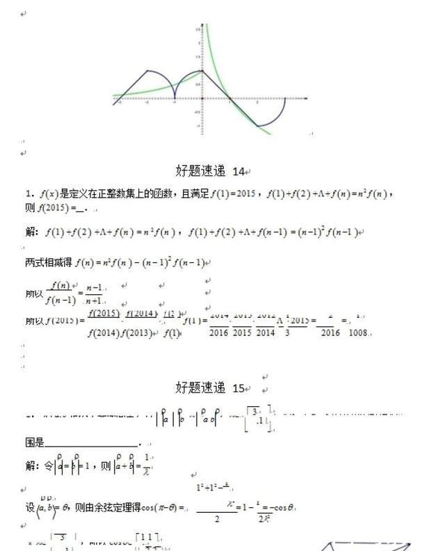 数学高中压轴题再难也不过这400道题,啃烂,次王勃高中诗图片