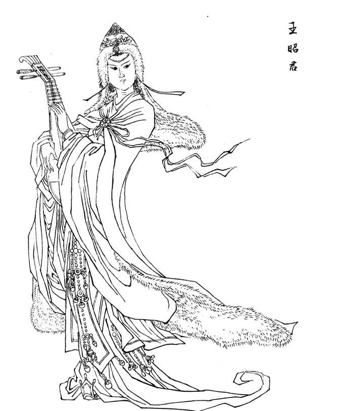 古代王妃图片手绘图