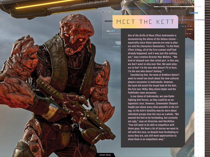 《质量效应:仙女座》新外星种族Kett