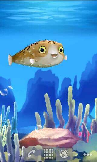 吹成气球的鱼动态壁纸截图2