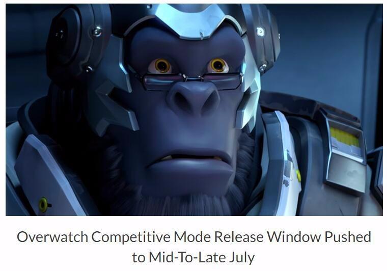 《守望先锋》竞争模式将于7月到来
