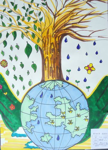 以上关于保护环境的画作图片