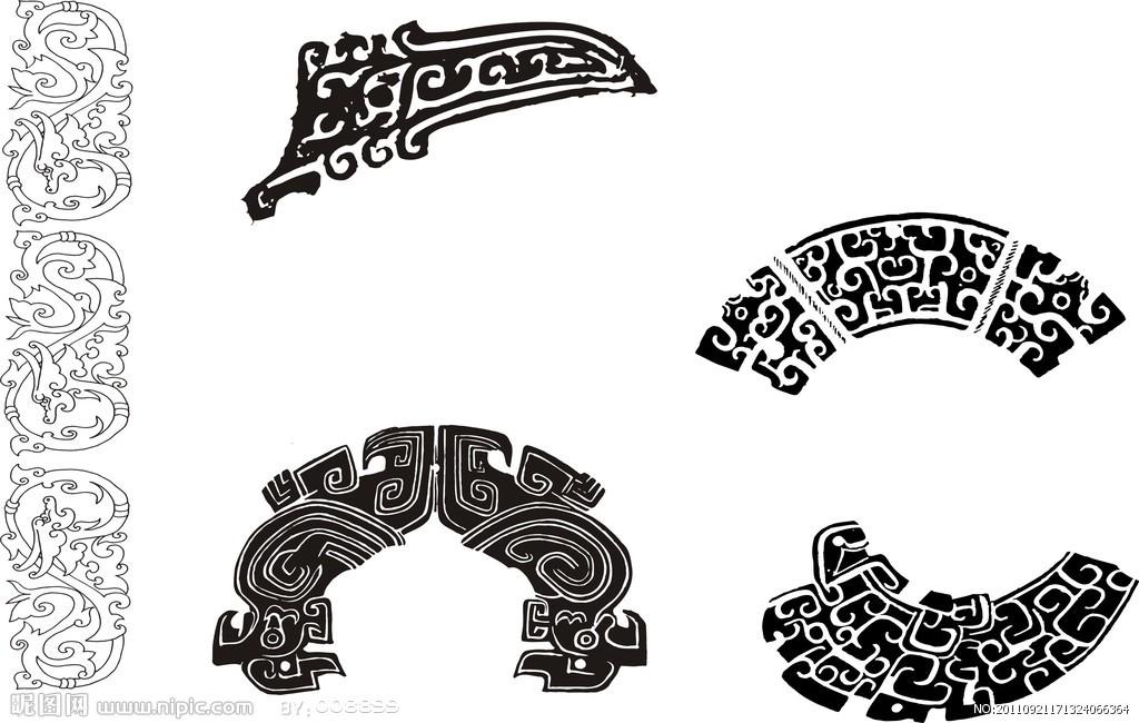 图腾饕餮纹身手稿分享展示