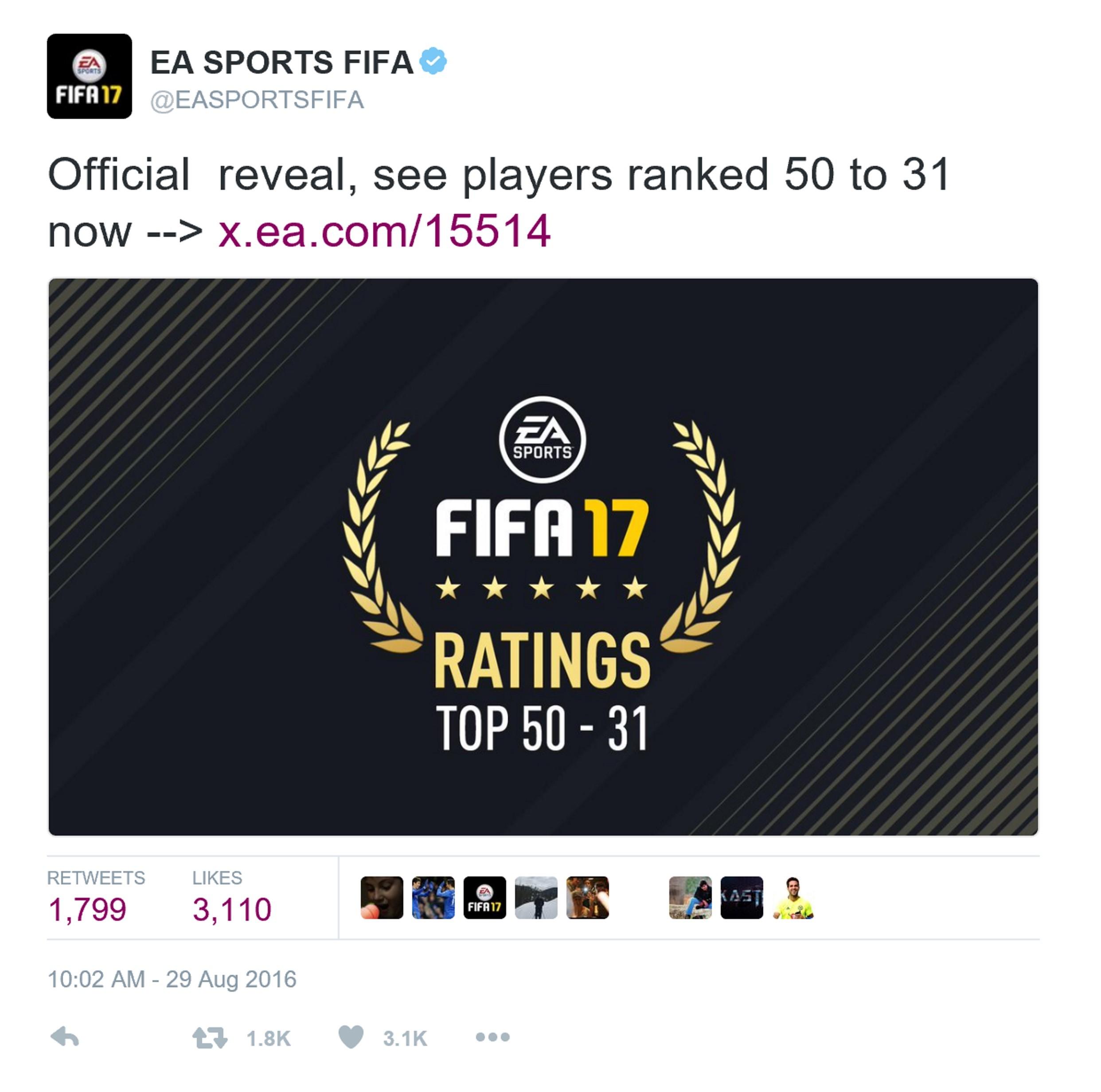 《FIFA17》球员能力值预告