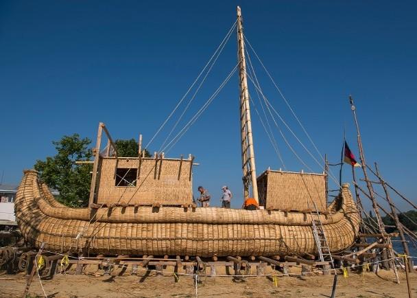 探险队拟用芦苇船远航爱琴海,以证明古埃及人的航海技术