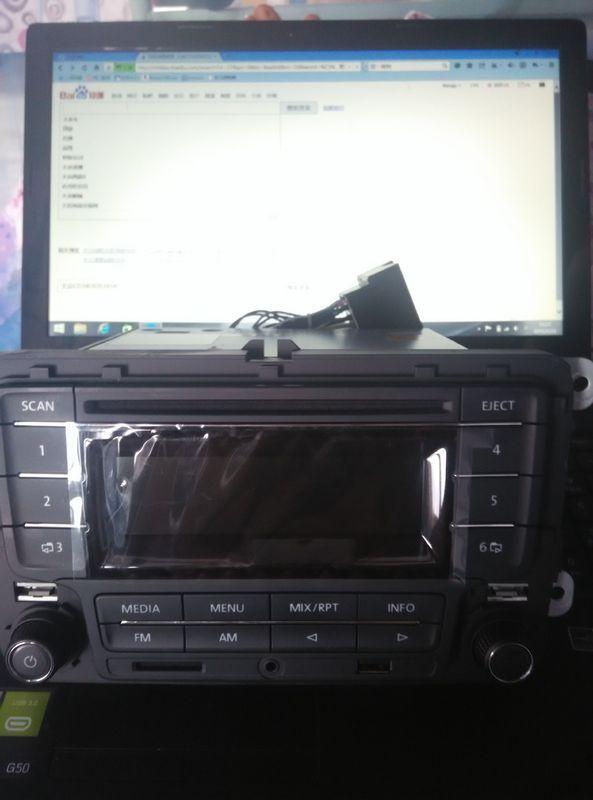 大众新朗逸cd机改装家用如何接线