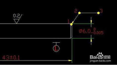 CAD中的倒角的标注标注_360问答cad里uscw++plan图片