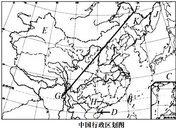 读中国行政区划图,回答下列各题
