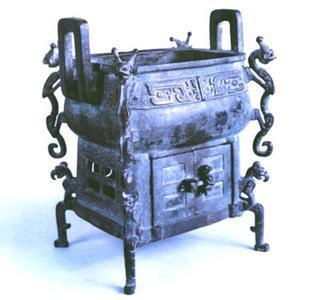 刖刑奴隶守门鬲图片