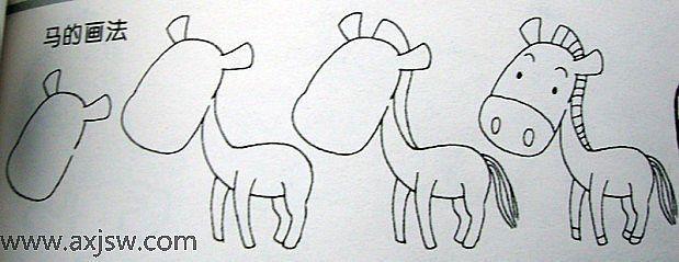 儿童简笔画组合图片_简笔画展示台