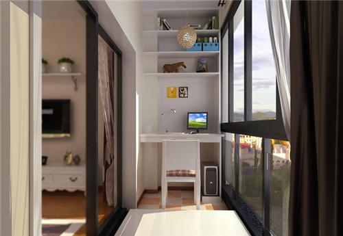 阳台小书房装修效果图 如何把阳台改造成书房呢