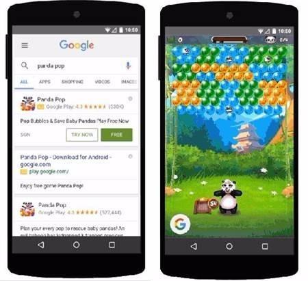 Google宣布将推出手游免下载试玩功能