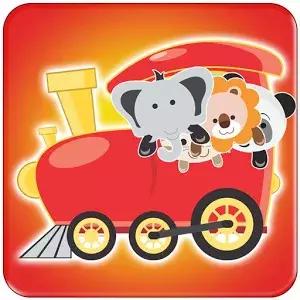 动物列车的儿童游戏是一个限时配对游戏三种动物的脸