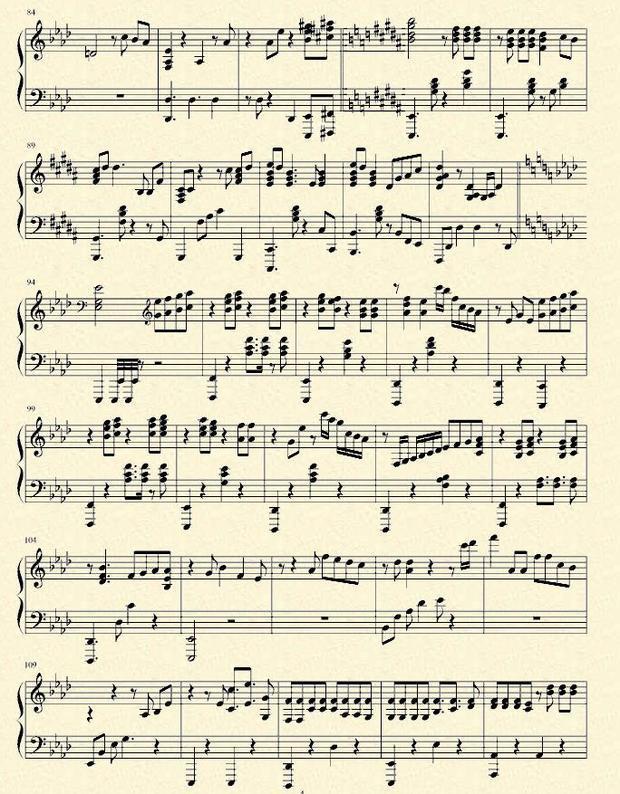 简谱网 电子琴谱 12月的奇迹电子琴谱
