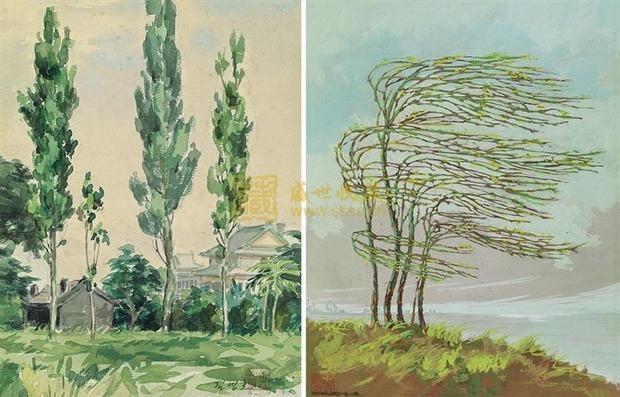 柳树用水彩笔怎么画