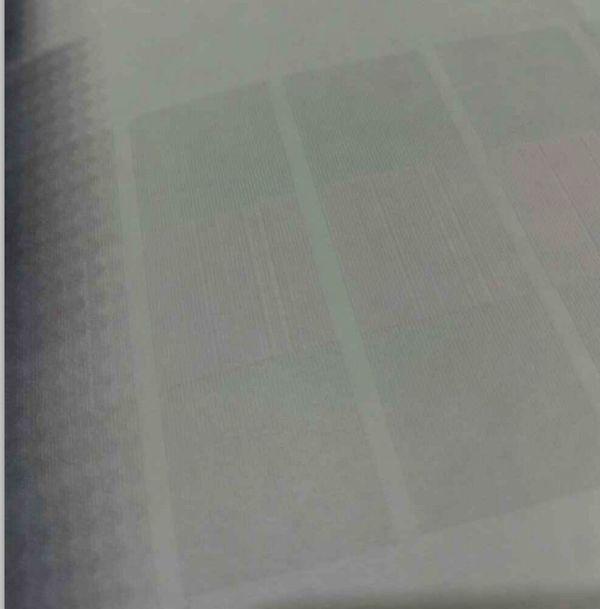武藤写真机打印测试条中间不正常,是什么原因
