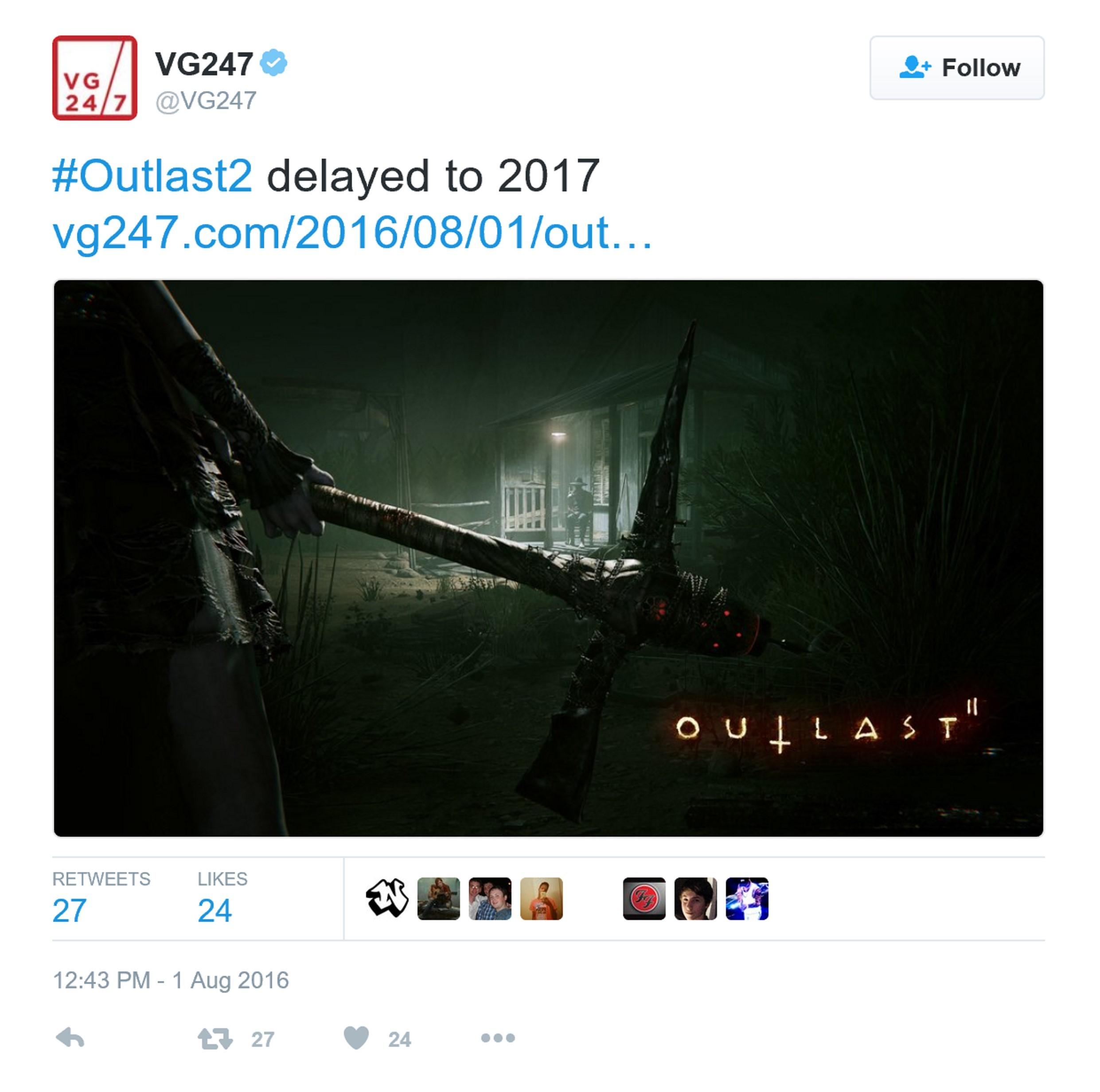 《逃生2》宣布跳票