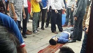南宁超市突发砍人事件9伤 嫌犯追砍至门外