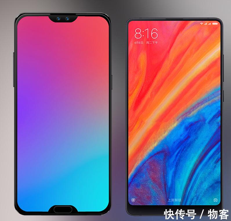科技 正文  双刘海的概念版魅族 16,屏幕边框对比小米mix3, 概念版