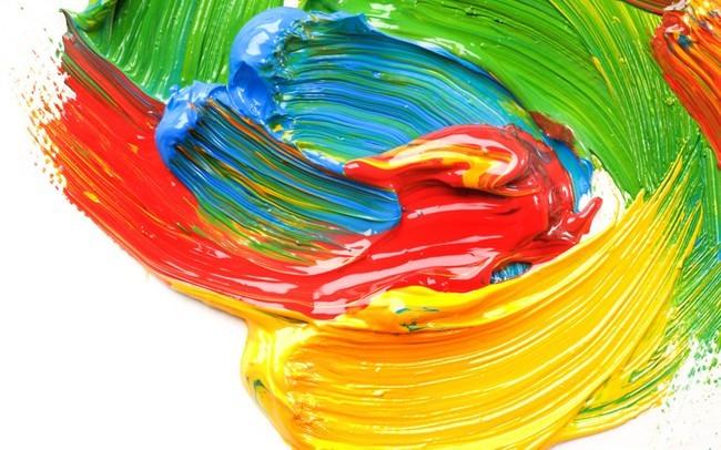 颜料排序 水粉渐变色